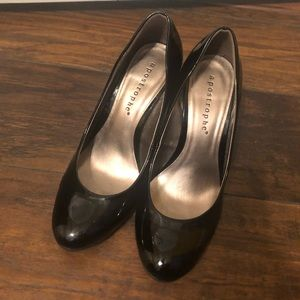 "Black Paten Leather 3"" Heels"